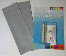 INTEX Vinyl/PVC Patch+Glue/Cement Repair Kit: Inflatable Raft, Boat, Kayak, Pool