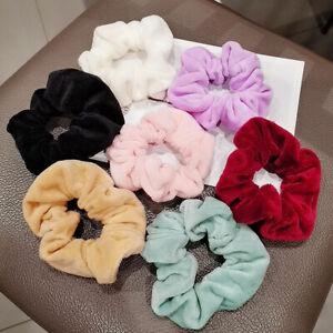 Pure Color Hair Accessories Plush Hair Rope Velvet Scrunchies Elastic Hair Bands