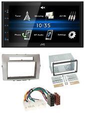 JVC 2DIN Bluetooth MP3 AUX USB Autoradio für Toyota Corolla Verso 04-09 silber