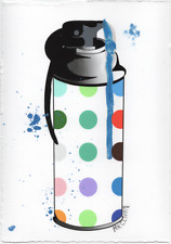 MR CLEVER ART CONTEMPORARY WAR DUD SPRAY CAN paint dots urban street art deco