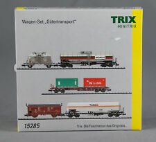 "TRIX Minitrix 15285 [Spur N] 5-teiliges Wagen-Set ""Gütertransport"" DB - NEUWARE!"