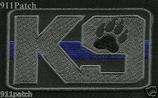 Thin Blue Line K9 Canine Law Enforcement Police Patch - Iron On
