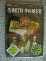 PC CD Rom Spiel Solid Games - Great Invasions (PC, 2008) Sturm Über Europa Neu