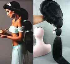 Anime Aladdin Jasmine princess Long Black Anime Wig /Cosplay/ wig