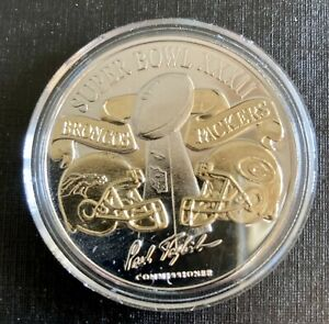 superbowl 32 .999 1oz Fine Silve Game Coin w/case and certificate