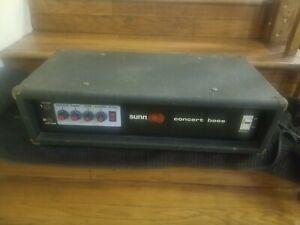 Rare Vintage Sunn Concert Bass Guitar Amplifier Head Amp