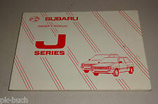 Owner´s Manual / Handbook Subaru Justy Serie J Stand 02/1988