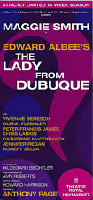 """Maggie Smith """"LADY FROM DUBUQUE"""" Edward Albee 2007 London Premiere Opening Flyer"""