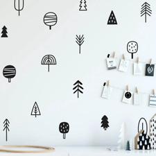 Woodland Pine Tree Wall Decal Nursery Art Decor Forest Vinyl Wall Stickers Decor
