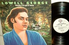 "LOWELL GEORGE(ex LITTLE FEAT): Thanks ,I""ll eat it here 1979*WARNER GERMANY"