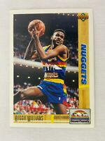 Reggie Williams Denver Nuggets 1991 Upper Deck Basketball Card 206