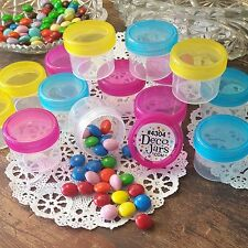 12 Empty Candy Bottle Jars 1oz Containers Pink Blue Yellow Party Favors 4304 Usa