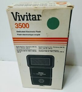 Vintage Vivitar 3500 Zoom Thyristor Shoe Mount Flash Unit