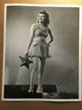 Rosemary LaPlanche Rare Stunning Original Autograph 8/10 Pin-Up Photo WWII GI 44
