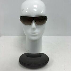 Arnette Rimless Wrap Sunglasses Men's Brown Gradient Lens Summer & Case 171484
