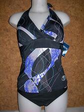 maillot de bain femme - 2 pièces - BECO  bikini 57781, noir à motifs  en 42