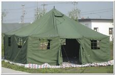 Military Army Large 11 Men Base Camp TENT 5x5m Canvas Olive - Factory New - TOP