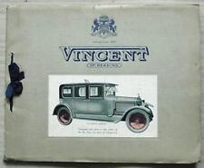 Vincent Coach Builders brochure c1925 ROLLS ROYCE DAIMLER Austin Talbot Sunbeam +