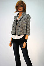 Unbranded Polyester Check Button Coats & Jackets for Women