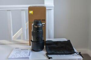 Nikon 70-200mm F/4.0 VR G ED Lens auto & manual, zoom, telephoto