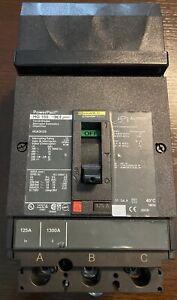 Square HJA36125 125 Amp 3 Pole Circuit Breaker