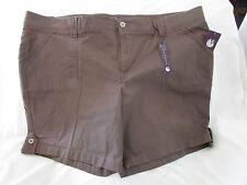 Ladies Plus Size 22w Brown Shorts Zip up 22 W Gloria Vanderbilt | eBay
