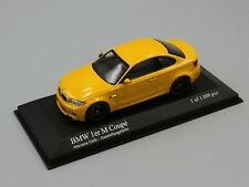 1:43 Minichamps  BMW 1ER COUPE  2011  YELLOW