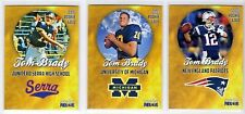 """2000 Tom Brady RC - INCREDIBLY RARE 3-card set -ONLY 2,000 made -""""Rookie GOLD"""" *"""