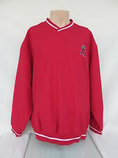Anaheim Angels Nylon V-Neck Pullover Size XL with Left Chest Logo by G-III
