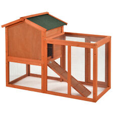 Natural Wooden House Pet Supplies Small Animal House Cage Rabbit Hutch Us Ship