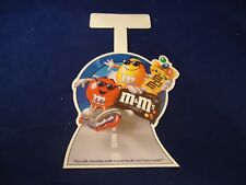 M&M's Brand Chocolate Plain + Peanut M&M Store Window Display Red Yellow 1995