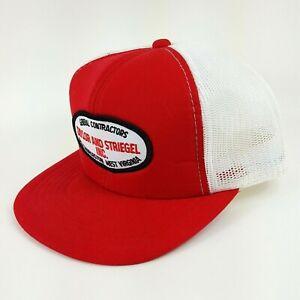 VTG Taylor Striegel Mesh Back Red Foam Trucker Hat Snapback Adjustable Cap Retro