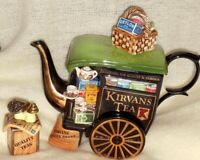 Paul Cardew  Kirvans Merchant  Tea Cart limited edition teapot with sugar box