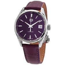 Tag Heuer Carrera кварцевые фиолетовый циферблат женские часы WBK1314.FC8261