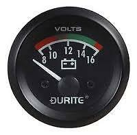 Durite 12v Battery Condition Voltmeter 0-523-22 Classic Car Marine Camper Van