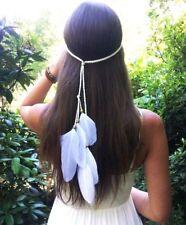 Women Native Indian Feather Weave Headdress Boho Gypsy Hippie Headband Gift