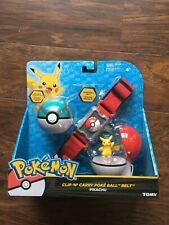 Clip 'N' Carry Poke Ball Belt - Pikachu Adjustable Pokemon Belt CosPlay Game Toy