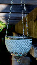 Turkish Style  Hanging Tea Light Candle Holder   ( WHITE / SILVER  )  BRAND NEW