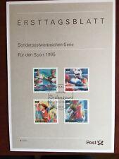 GERMANY BRD FRD CARD 1995 FUR DEN SPORT CANOE BOXING GYMNASTICS VOLLEYBALL