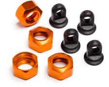 HPI Racing Shock Caps Trophy Series 4pcs (orange) #101752 OZRC