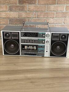 SANYO C30 Rare Vintage Portable Stereo Ghetto Blaster Boom Box Tape Radio 📻