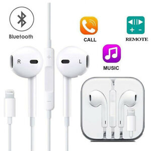 Sports Fits Lightning Wired Earphones Headphones Mic For Apple Genuine iPhone