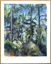 Cezanne  Landscape Pines and Rocks   Ltd Ed Original Lithograph from late 1940's