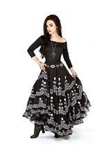 I-D-D Bohemian Dance 'La Gitana' Embroidered  Gypsy Romani Urban Boho Skirt