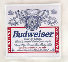 Budweiser Beer Red/White/Blue 5 1/2 in. x 5 1/2 in. Patch >NEW<
