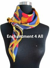 Large Silk Twill Scarf Wrap Multi-Color 1