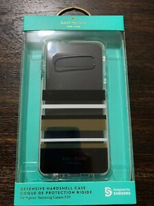 kate spade Hardshell Clear Case for Samsung Galaxy S10 Park Stripe Crear NEW!