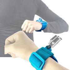 Blue Elastic Arm Wrist Strap Adjustable Hand Belt Mount For Gopro HD Hero 4 3 2