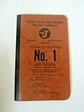 EJ&E - Elgin Joliet & Eastern Railway Company Timetable #1 - 1981