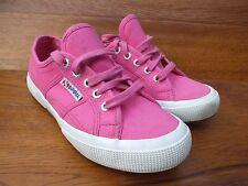 SUPERGA COTU Vivida Sneakers Scarpe di tela Rosa Taglia UK 5 EU 38